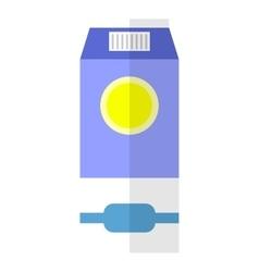 Milk flat icon vector image vector image
