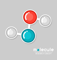 Molecular structure emblem research concept in vector