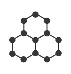 molecular structure isolated icon design vector image vector image