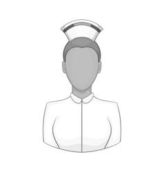 Nurse icon black monochrome style vector
