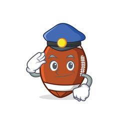 Police american football character cartoon vector