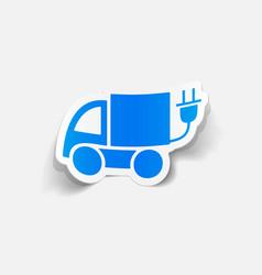 Realistic design element eco car vector