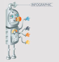 robot infographic design eps10 vector image
