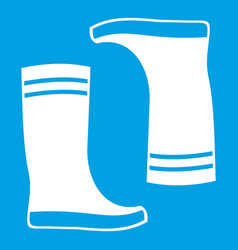 Rubber boots icon white vector