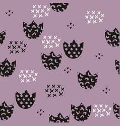 stylized childrens pattern with flowers vector image vector image