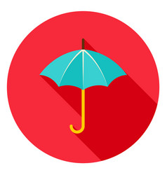umbrella circle icon vector image