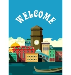 urban city flyer vector image