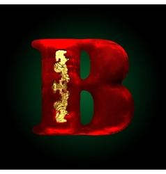 Velvet b letter with gold vector