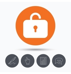 Lock icon privacy locker sign vector