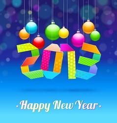 Happy new year 2013 - holidays vector