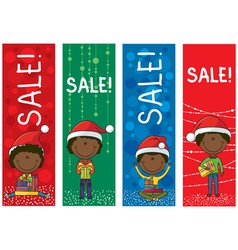Christmas sale banners vector image