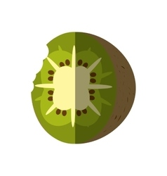 Kiwi tropical fruit isolated icon vector