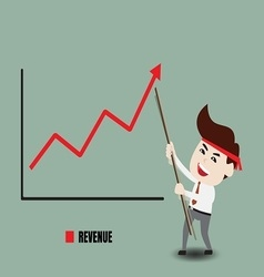Businessman accelerate business growth vector