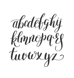 Black and white hand lettering alphabet design vector