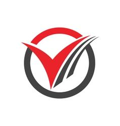V letter logo business professional logo template vector