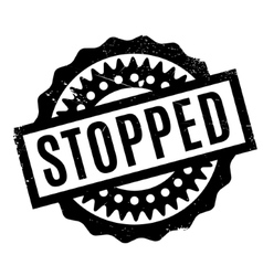 Stopped rubber stamp vector