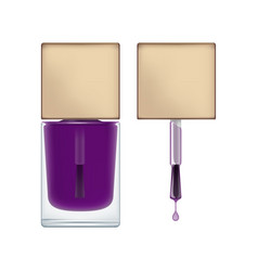 Package for purple nail polish vector