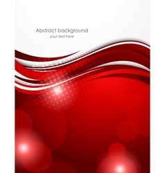 Abstract red background vector image