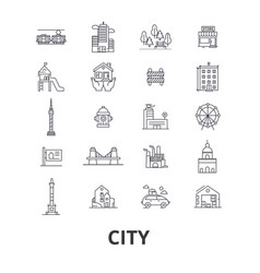 city urban building real estate architecture vector image