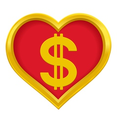 Dollar heart vector