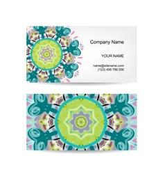Business card design Ornate background vector image