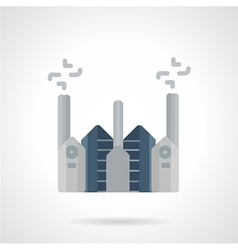 Cement factory flat color icon vector