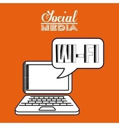 social media design vector image