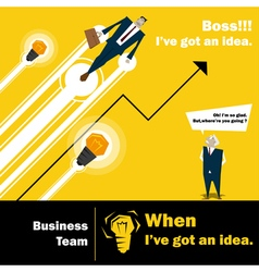 Business Idea series Business Team 3 concept vector image