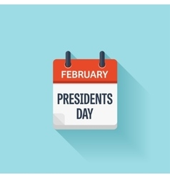 Presidents washingtons day february event vector