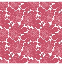 Romantic pink roses seamless pattern in retro vector image
