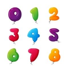 Balloon numbers set vector image vector image