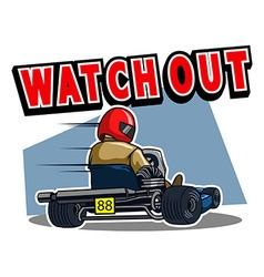 Beware gokart race vector