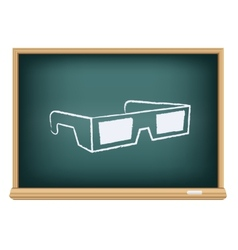 board cinema 3D glasses vector image vector image