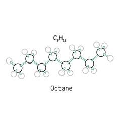 C8h18 octane molecule vector