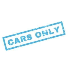 Cars only rubber stamp vector