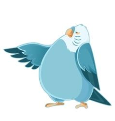 Cartoon fat parrot vector image vector image