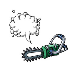 chainsaw-100 vector image