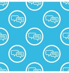 Chatting sign blue pattern vector