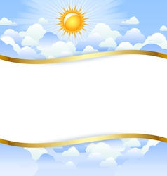 cloudy day template vector image vector image