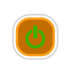 Color label design icon design button music on off vector