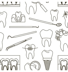 Dental tooth icons pattern vector