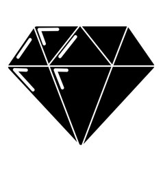 Diamond icon simple black style vector