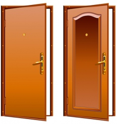 door opened vector image