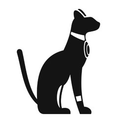 Egyptian cat icon simple style vector image