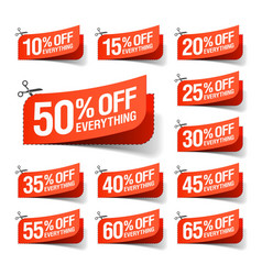 Everything is on Sale coupons vector image vector image