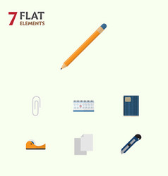 flat icon equipment set of fastener page drawing vector image