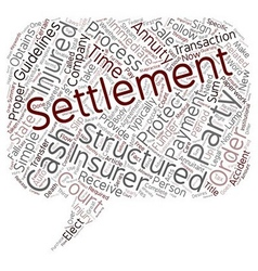 Get cash for structured settlement text background vector