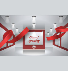 grand opening background with vector image vector image