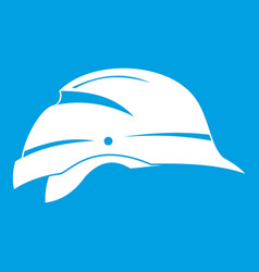Hardhat icon white vector