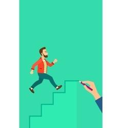 Man running upstairs vector image vector image